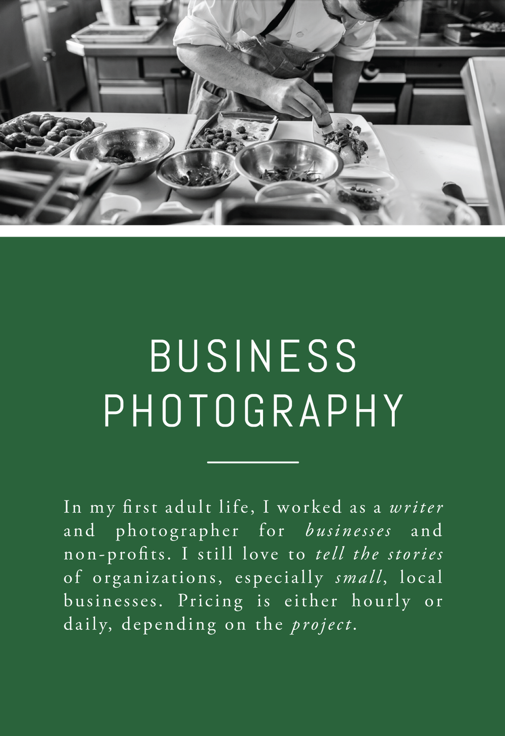 Rachel Greiman Green Chair Stories Booking Business Photos Branding