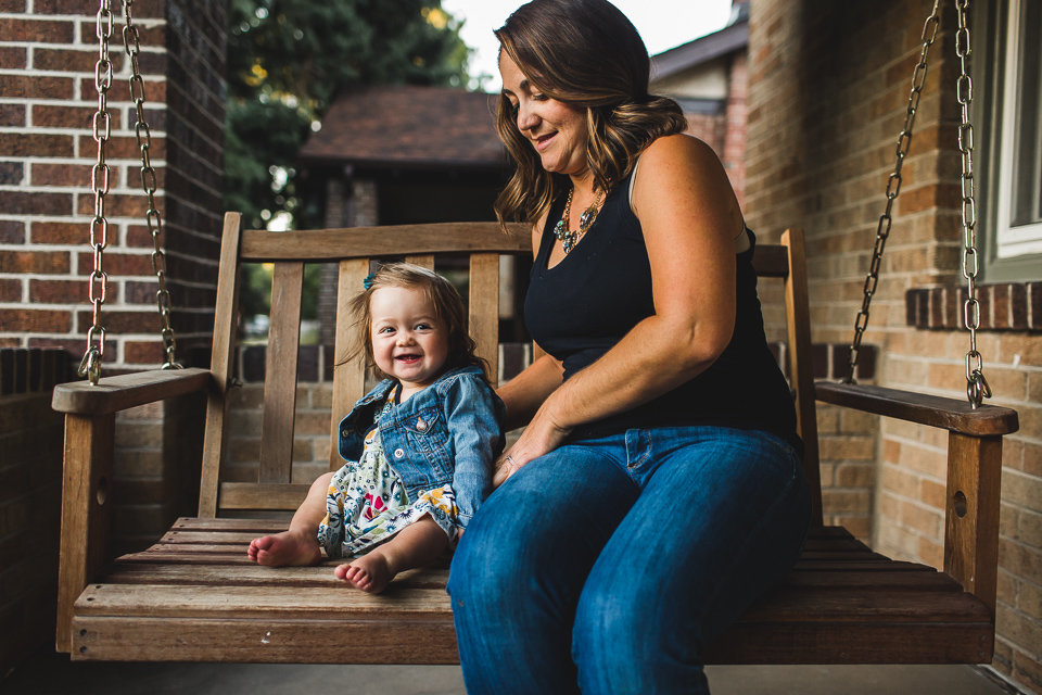 family on porch swing denver colorado