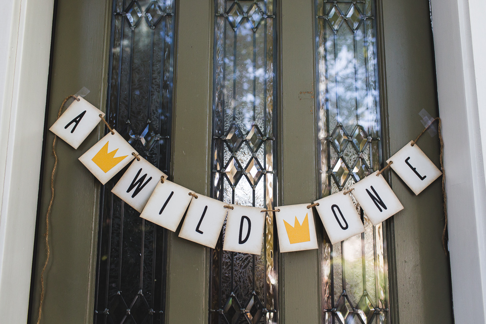 a wild one birthday party banner