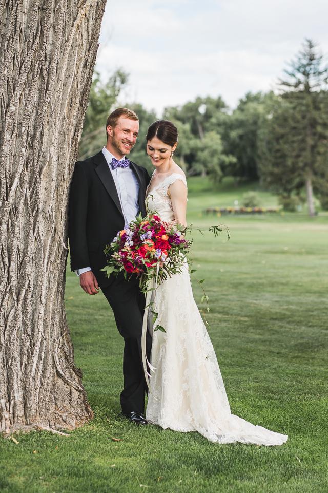 bride groom smiling wedding day denver colorado