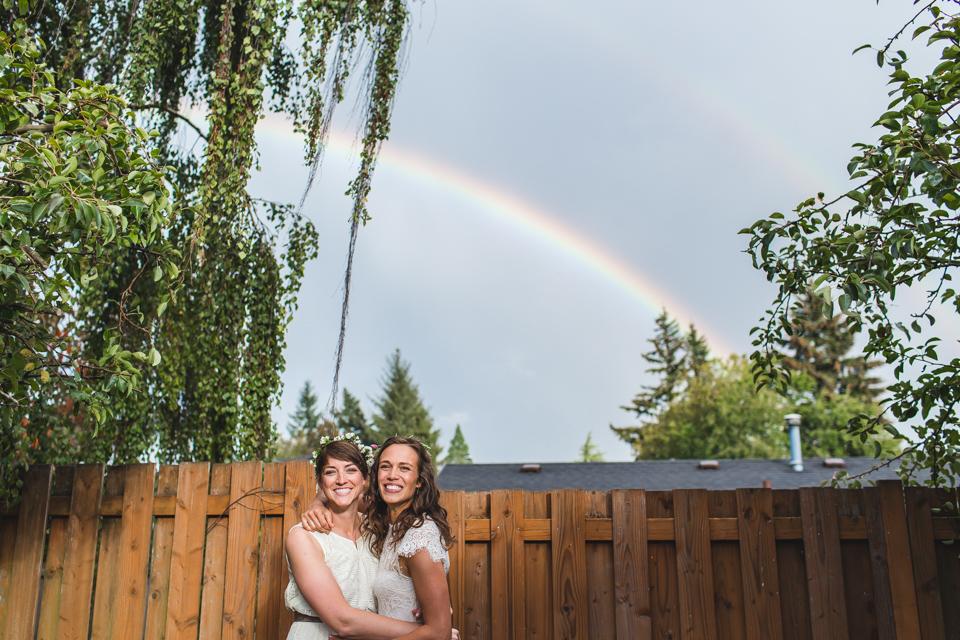same sex wedding portland oregon rainbow