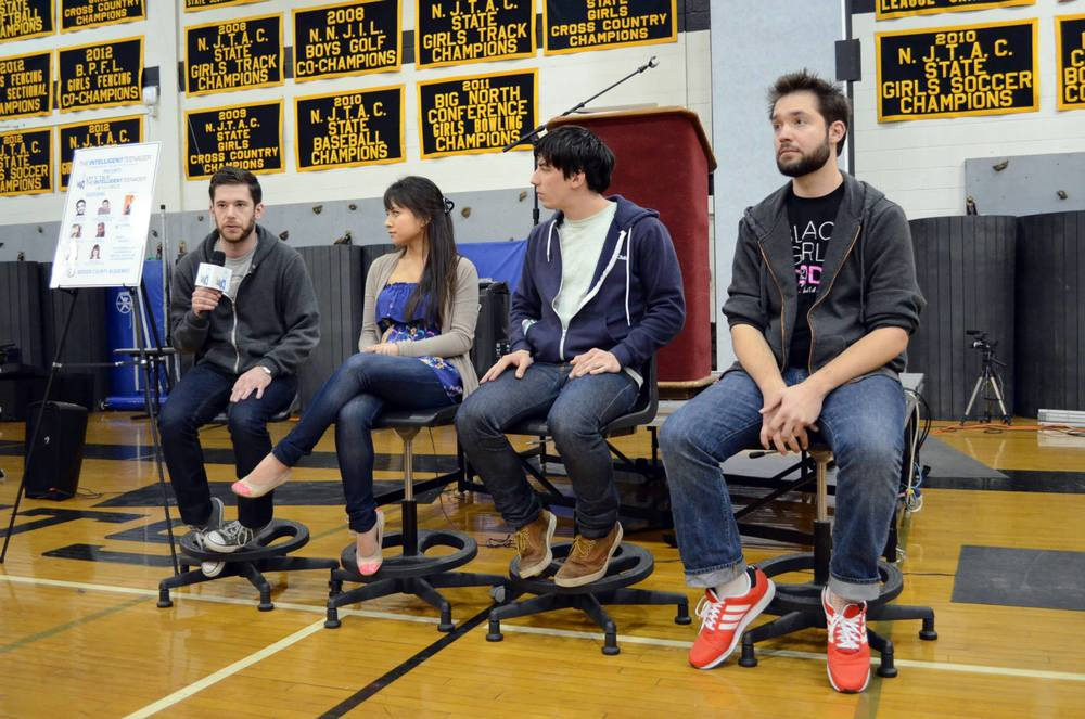 Joining the panel of some of the judges at HackBCA / Credit: HackBCA