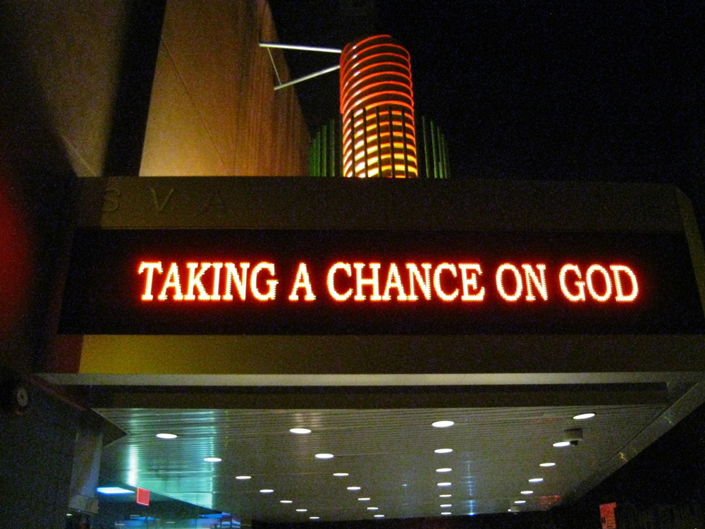Taking a Chance on God NYC premier
