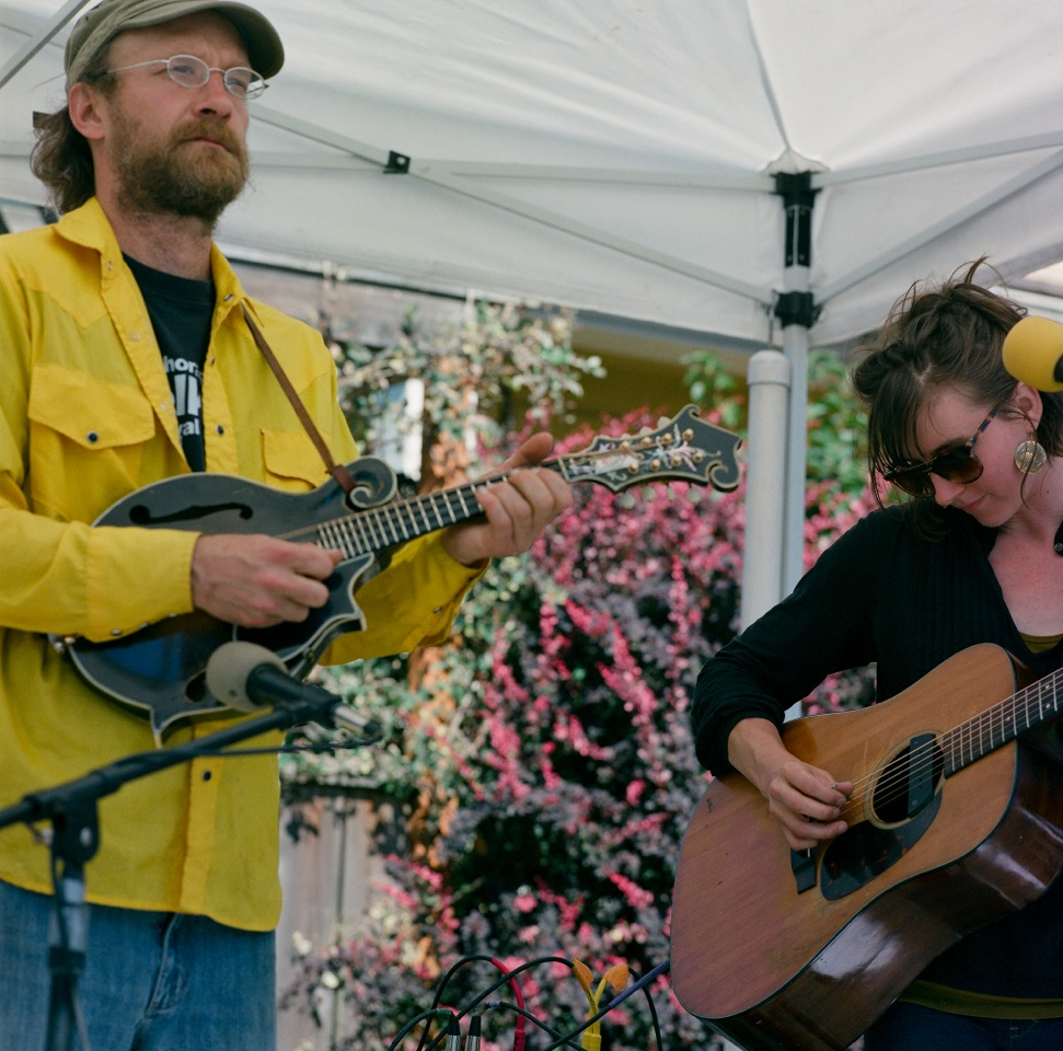With Matt Sireily at the Farmer's Market Port Townsend WA (Photo by James Curtis)