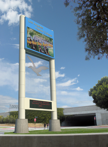LACCD Harbor College Marquee