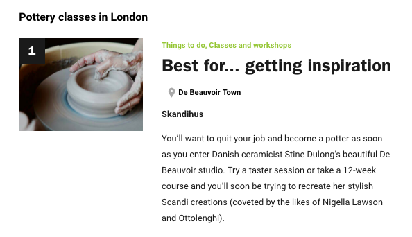 time out london skandihus pottery courses