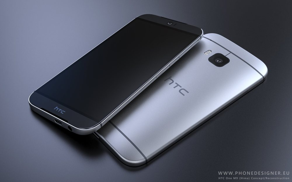 (Source:  Phone Arena )  HTC One M9 Hima Render
