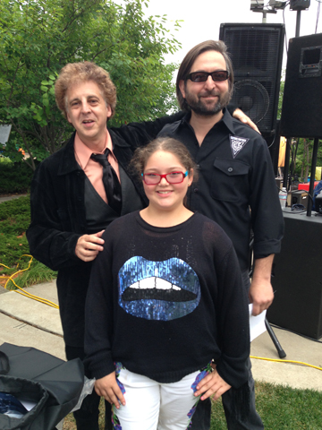 Magic Marc, Basha Goldwater and Eric Weinstein / Salute to the Music of Bob Dylan / The Veteran's Memorial Wolfe Park Amphitheater / St. Louis Park, Minnesota / July 27th, 2013 / Photo by Lisa Goldwater