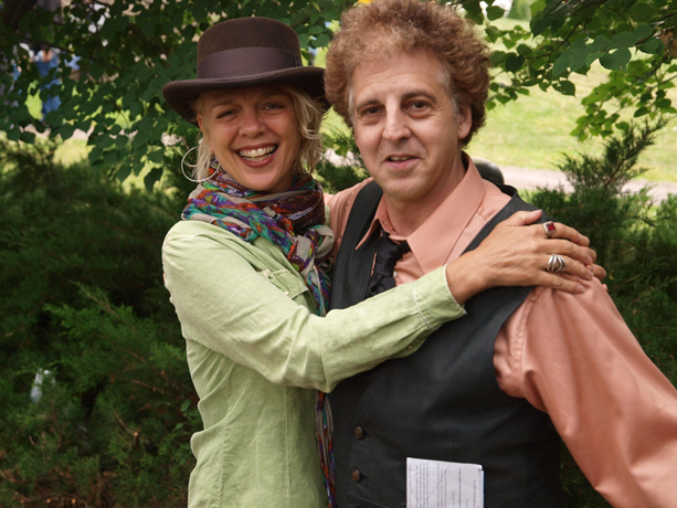 Barbara Meyer and Magic Marc / Salute to the Music of Bob Dylan / The Veteran's Memorial Wolfe Park Amphitheater / St. Louis Park, Minnesota / July 27th, 2013 / Photo by Neil Schloner