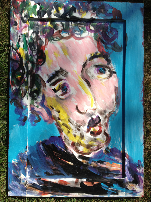 Marc / June 28th, 2012 / 17 x 24 Acrylic Painting on Wood by Gretchen Seichrist