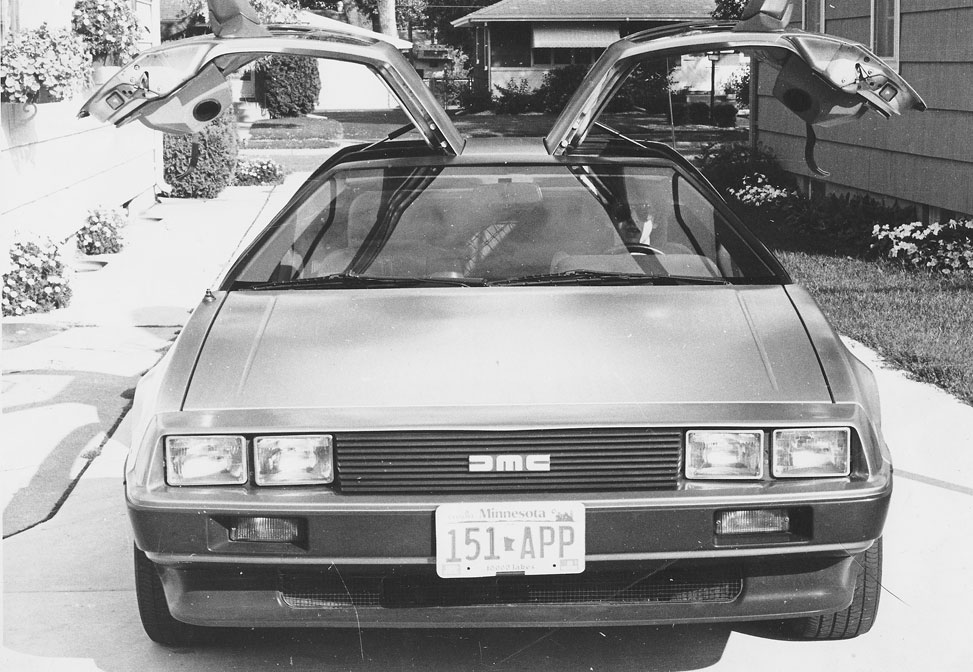 1981 DeLorean DMC-12   St. Louis Park, Minnesota / 1988 / Photo by Sally Gittelson