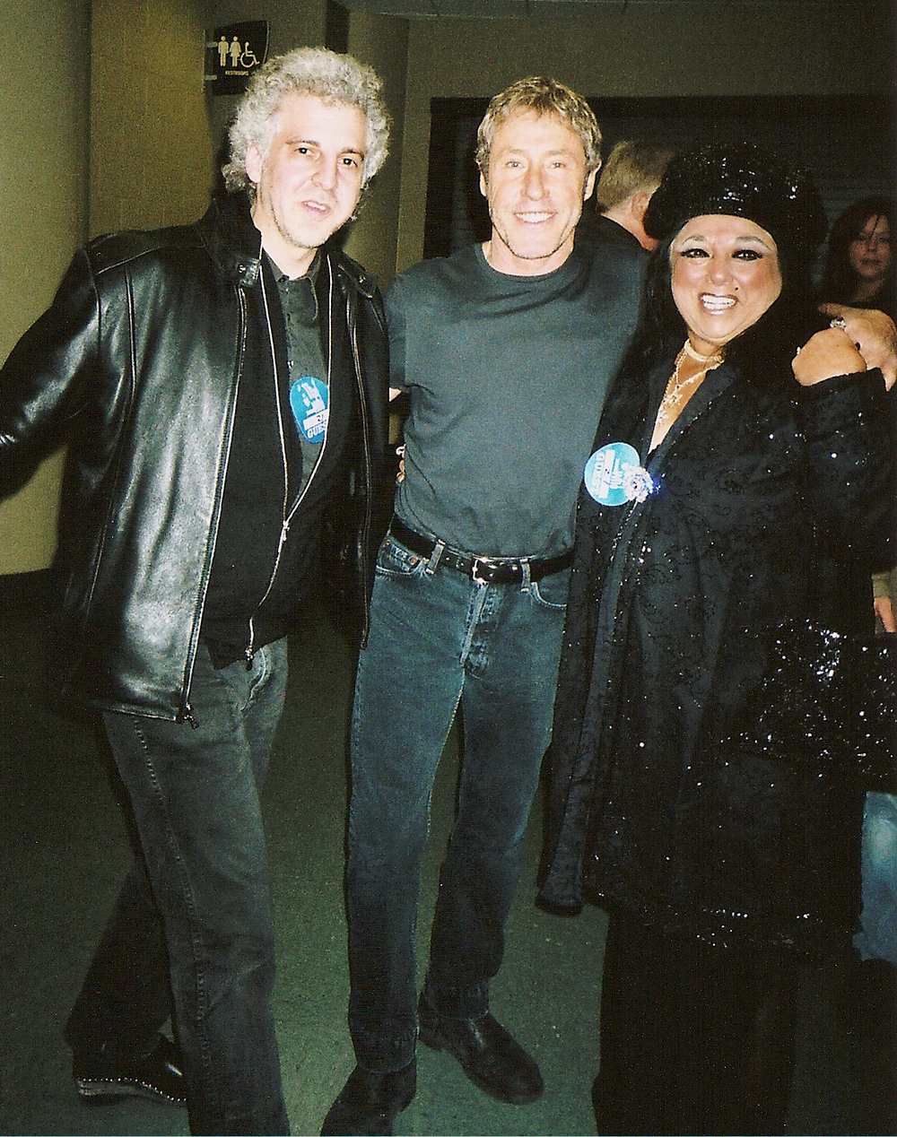 Magic Marc, Roger Daltrey & Marilyn Percansky  Backstage at Xcel Energy Center / St. Paul, Minnesota / December 8, 2006