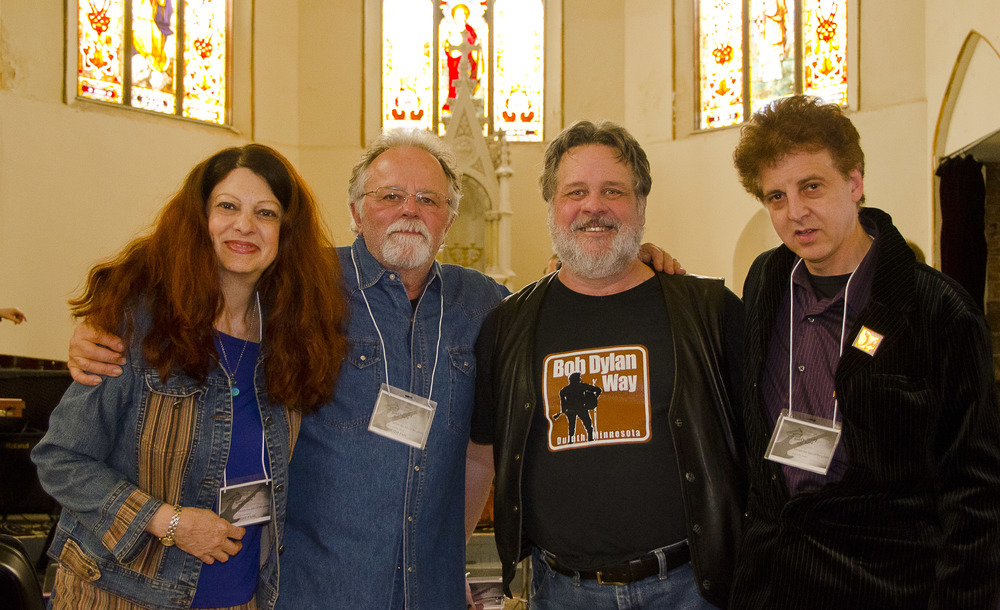 Scarlet Rivera, Gene LaFond, Nelson T. French and Magic Marc / Sacred Heart Music Center / Duluth, Minnesota / May 17th, 2014 / Photo by Michael K. Anderson