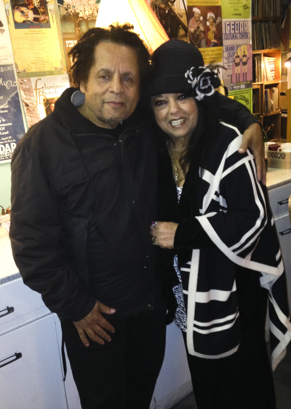 Garland Jeffreys and Marilyn Percansky / Backstage at The Cedar Cultural Center / Minneapolis, Minnesota / November 15th, 2013