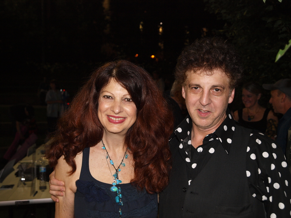 Scarlet Rivera and Magic Marc / Salute to the Music of Bob Dylan / The Veterans' Memorial Wolfe Park Amphitheater / St. Louis Park, Minnesota / August 9th, 2014 / Photo by Neil Schloner