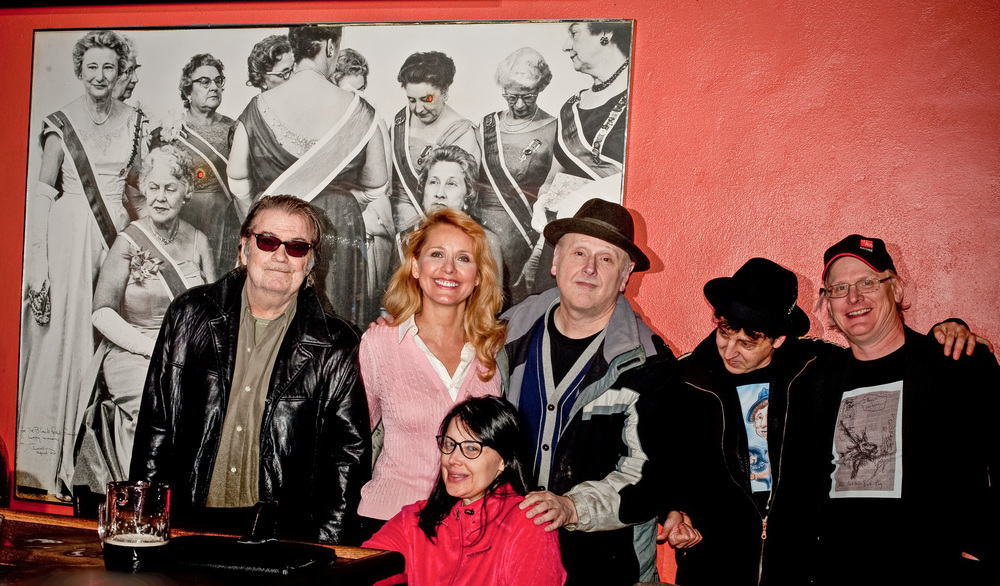 Barry Thomas Goldberg, Helen Chorolec, Debbie Dickson, Arne Fogel, Magic Marc and Michael Johnson / Black Forest Inn ( Gun-sho  t Avedon still at home in Minneapolis German restaurant ) / Minneapolis, Minnesota / January 29th, 2015 / Photo by Gamini Kumara