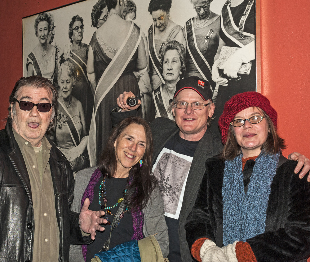 Barry Thomas Goldberg, Marcy Hokenson, Michael Johnson and Jeaneen Gauthier / Black Forest Inn / Minneapolis, Minnesota / January 29th, 2015 / Photo by Gamini Kumara