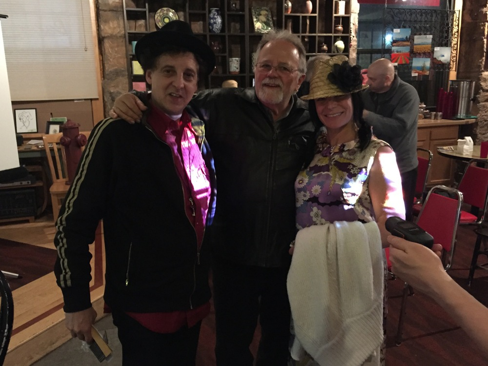 RUBY THE DOGUMENTARY / Red Mug Coffeehouse Screening! Magic Marc, Gene LaFond and Amy Grillo / Superior, Wisconsin / MAY 2ND, 2015 / Photo by Nelson T. French