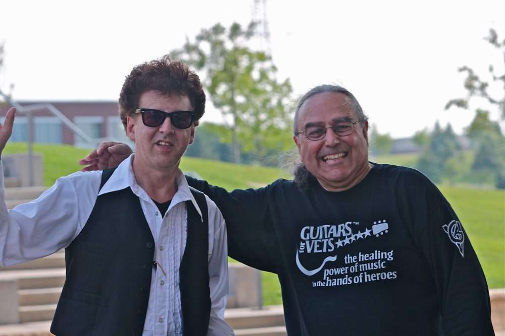 Magic Marc and Billy Hallquist / Salute to the Music of Bob Dylan / Town Green Amphitheatre / Maple Grove, Minnesota / August 6th, 2014 / Photo by Jeff Miletich