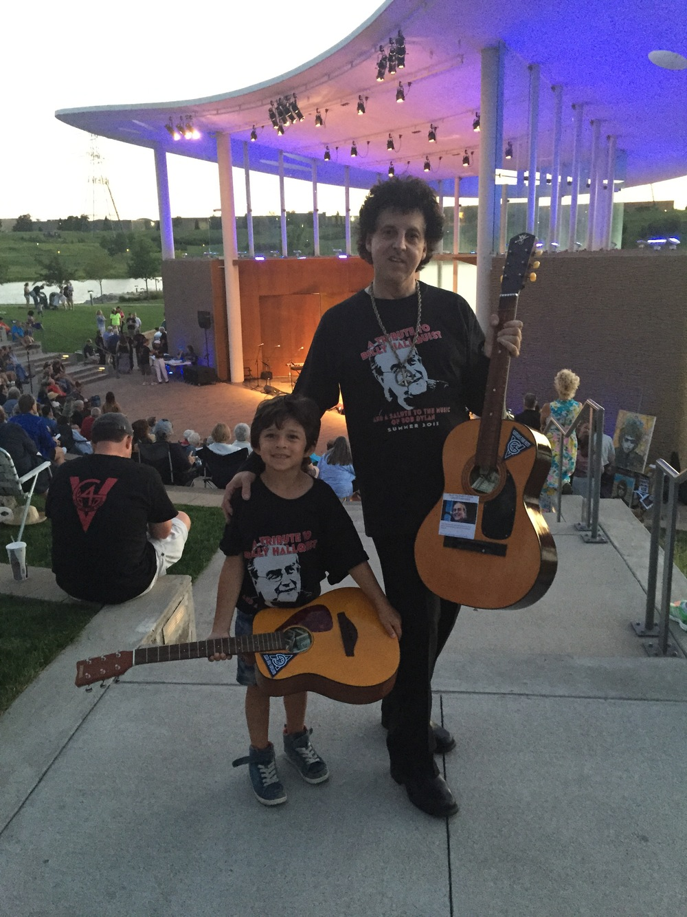 Abe Percansky-Segal and Magic Marc / Town Green Amphitheatre / Maple Grove, Minnesota / July 29th, 2015 / Photo by Lisa Goldwater
