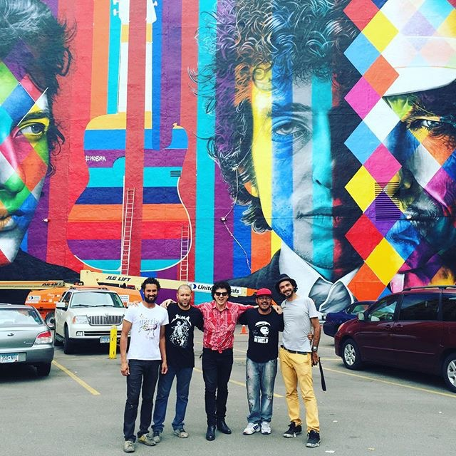 Bob Dylan Mural by Eduardo Kobra - Agnaldo Brito Pereira, Cesar Almeida,  Magic Marc , Marcos Rafael and Eduardo Kobra / Downtown Auto Park / 509 Hennepin Avenue / Minneapolis, Minnesota / September 5th, 2015 / Photo by Joan Vorderbruggen