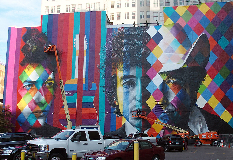 The almost-completed mural, Sept. 5, 2015.