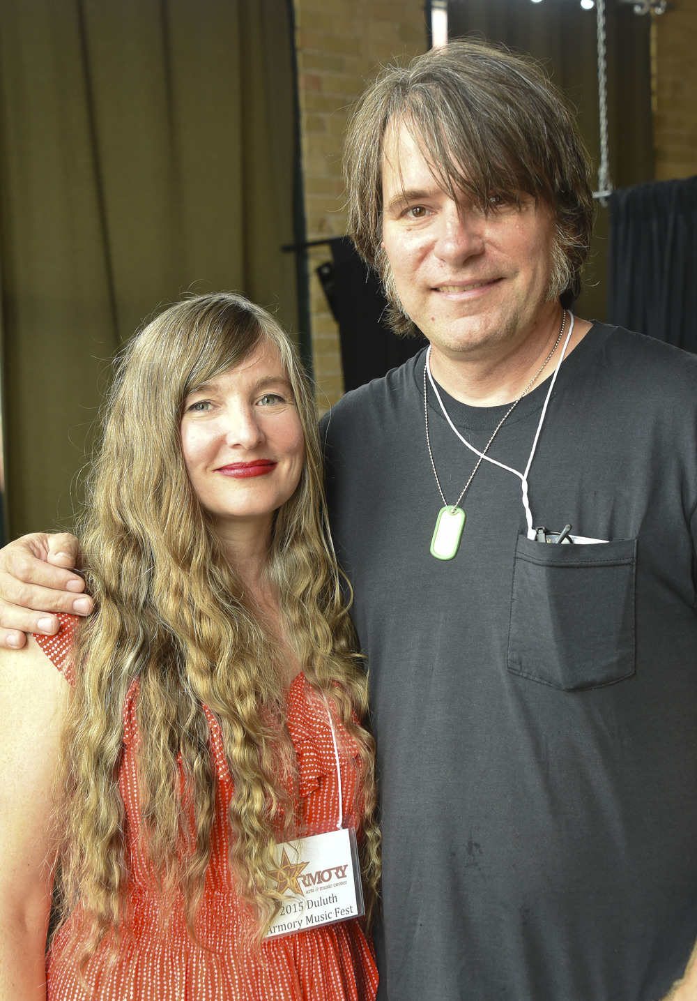 Germaine Gemberling and Rich Mattson / Clyde Iron Works / Duluth, Minnesota / September 6th, 2015 / Photo by Michael K. Anderson ( https://singingcanoe.smugmug.com/SmugPreview/Duluth-Armory-Music-Fest/51835601_4rxJSQ#!i=4335842517&k=mtrxFBV )