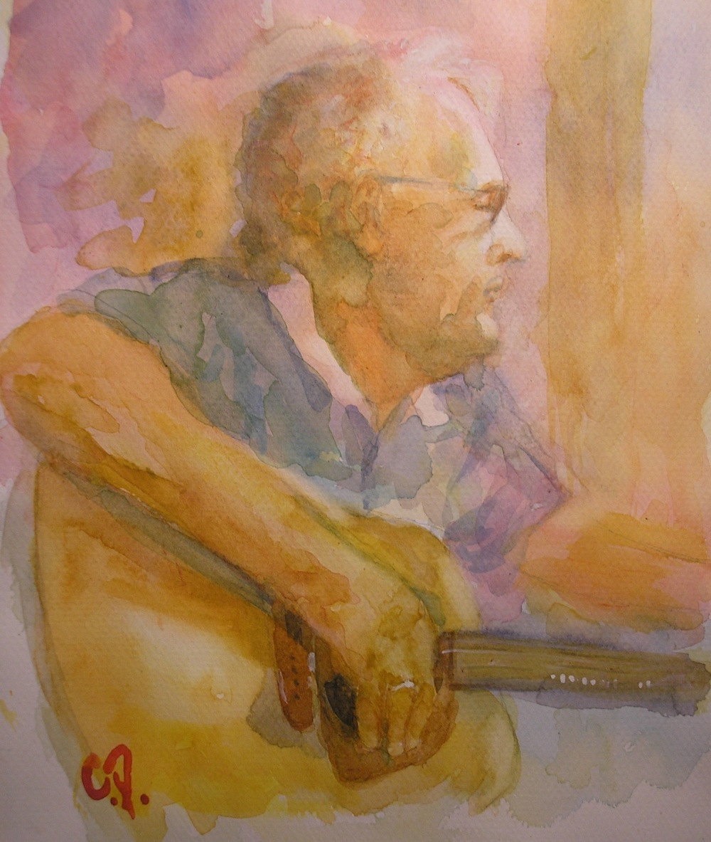 Phil Little / Watercolor Painting by Chris Polis