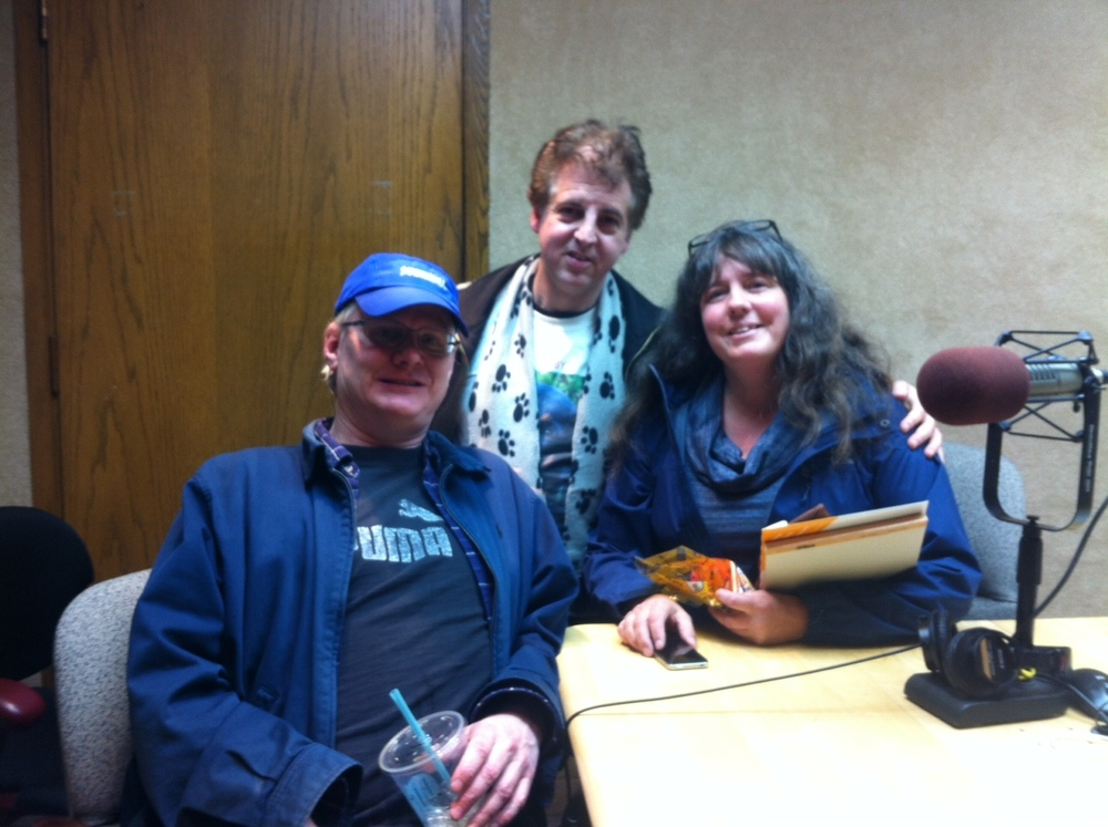 Michael Johnson, Magic Marc and Cathy Menard / Pet Connections - AM950 / Eden Prairie, Minnesota / November 8th, 2015 / Photo by Peter Leigh