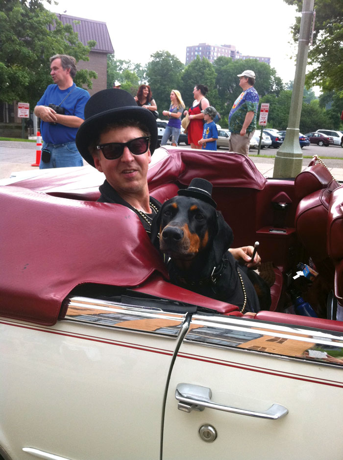 """Ruby The Dogumentary"" includes scenes featuring St. Louis Park resident Marc Percansky and his dog, Ruby, in the 2011 Parktacular parade. (Submitted photo)"