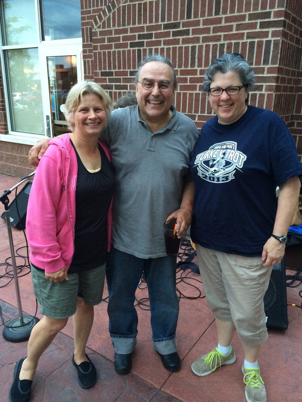 Cheryl Portesan, Billy Hallquist and Mary Portesan Thiel / Tuesday Night Acoustics - Holiday Inn Hotel & Suites / Maple Grove - Arbor Lakes, Minnesota / June 17th, 2014 / Photo by Jim Portesan
