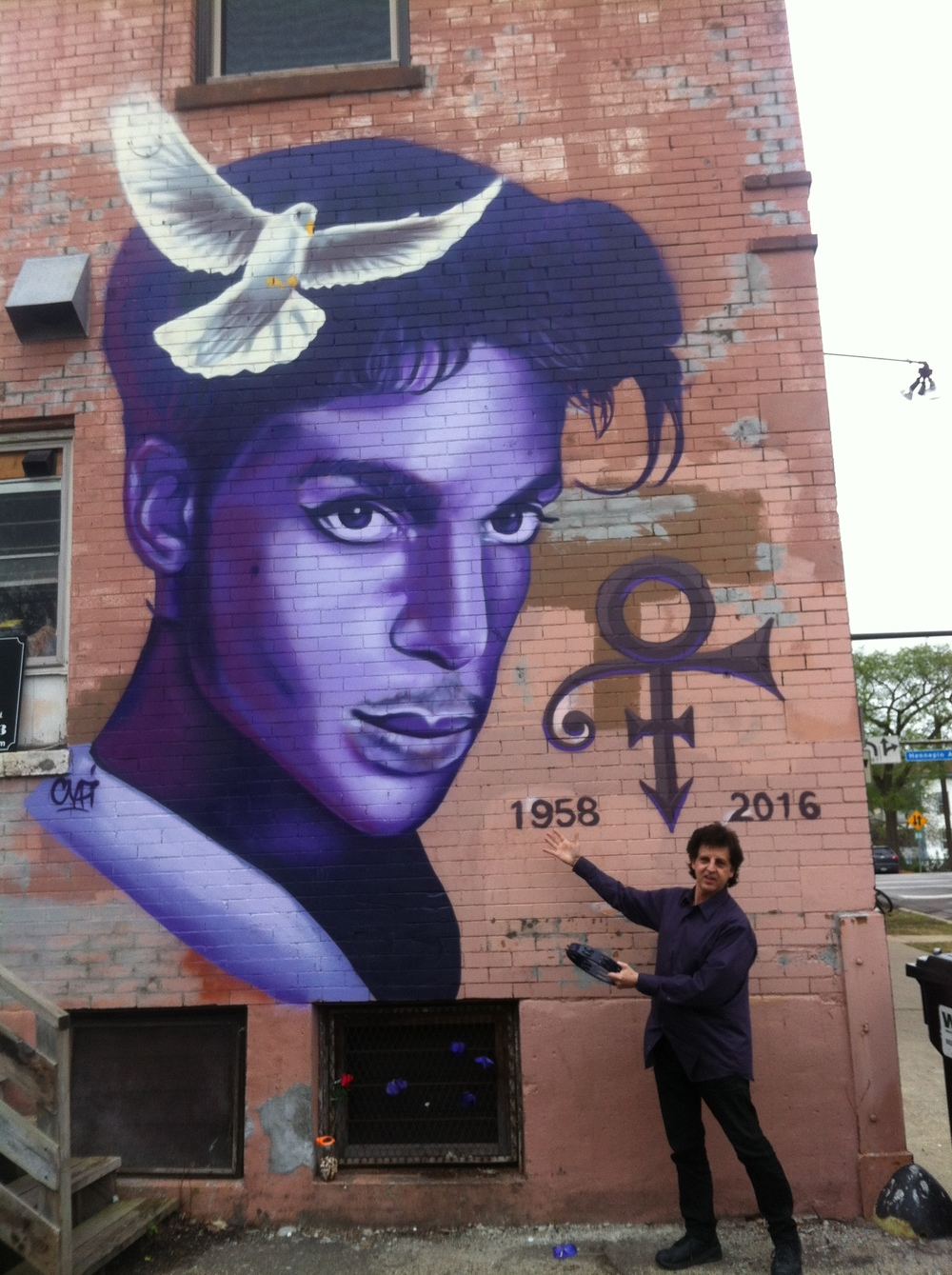 "Prince Mural by Rock   ""Cyfi""   Martinez - Magic Marc / Sencha Tea Bar / 2601 Hennepin Avenue / Minneapolis, Minnesota / April 26th, 2015 / Photo by Melanie Ree"