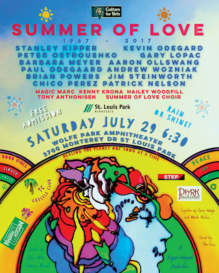 A poster advertises the Summer of Love Concert Sunday, July 29, in St. Louis Park's Wolfe Park. (Submitted art)