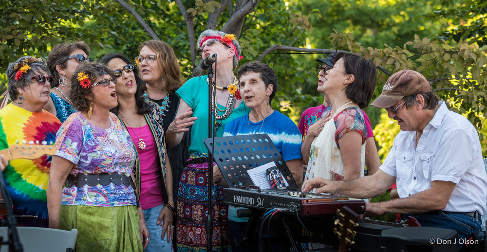 Summer Of Love Choir and Jim Steinworth / The Veterans' Memorial Wolfe Park Amphitheater / St. Louis Park, Minnesota / July 29th, 2017