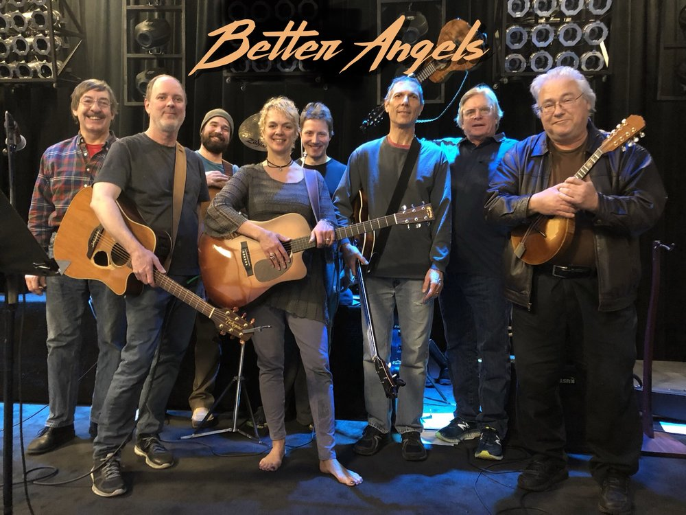 Better Angels - Jim Steinworth, John Heinen, Aaron Ollswang, Barbara Meyer, Paul Odegaard, Gary Lopac, Kevin Odegard and Peter Ostroushko  A440 Studios  New Hope, Minnesota / December 3rd, 2017 / Photo by Marc Percansky