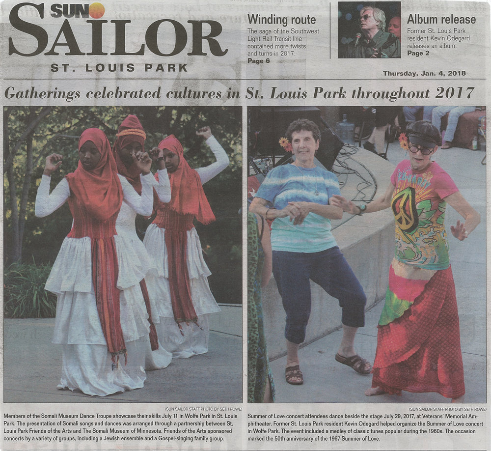 Gatherings Celebrated Cultures in St. Louis Park throughout 2017 - SUN SAILOR ST. LOUIS PARK Thursday, January 4, 2018 Page 1
