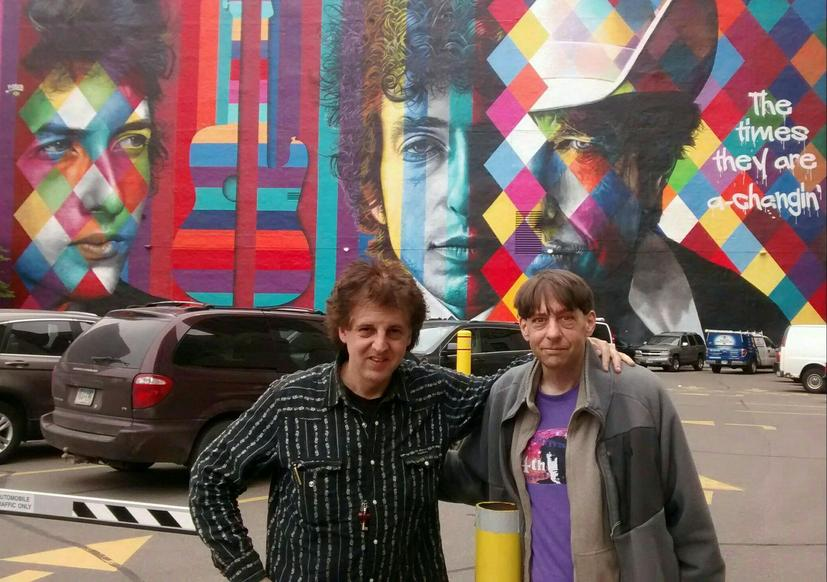 Bob Dylan Mural by Eduardo Kobra - Magic Marc and John Bushey / Downtown Auto Park /  509 Hennepin Avenue / Minneapolis, Minnesota  / May 12th, 2017 / Photo by Terry Roses