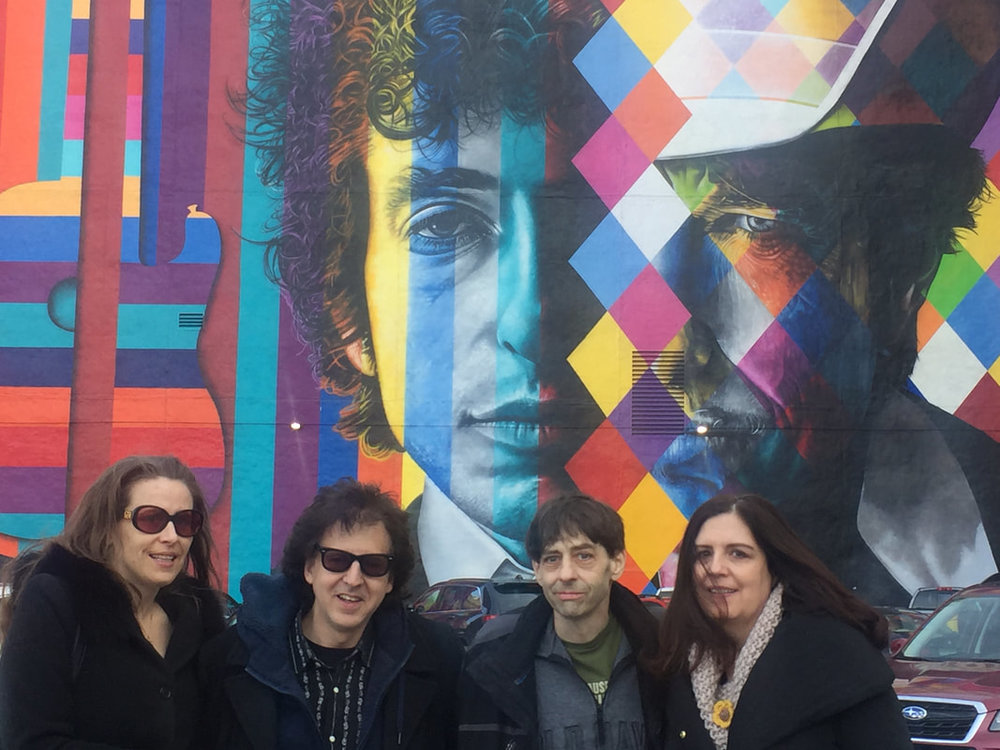 Bob Dylan Mural by Eduardo Kobra - Melanie Ree, Magic Marc, John Bushey and Theresa Sheehy / Downtown Auto Park / 509 Hennepin Avenue / Minneapolis, Minnesota / March 3rd, 2017 / Photo by Mark Mitton