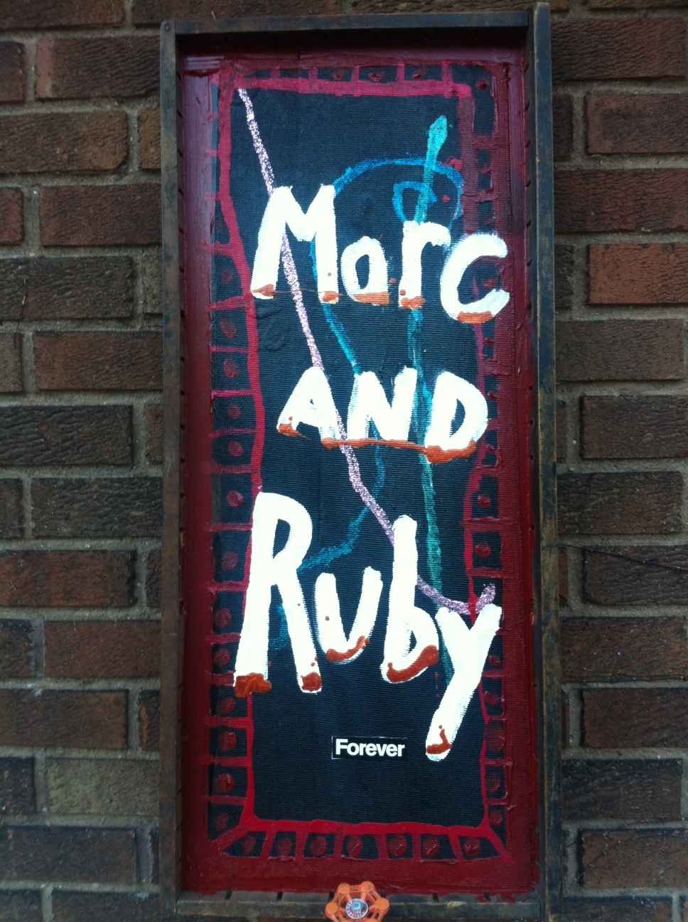 Marc AND Ruby Forever / January 1st, 2019 / 14 x 32 Acrylic Painting on Wood by Melanie Ree