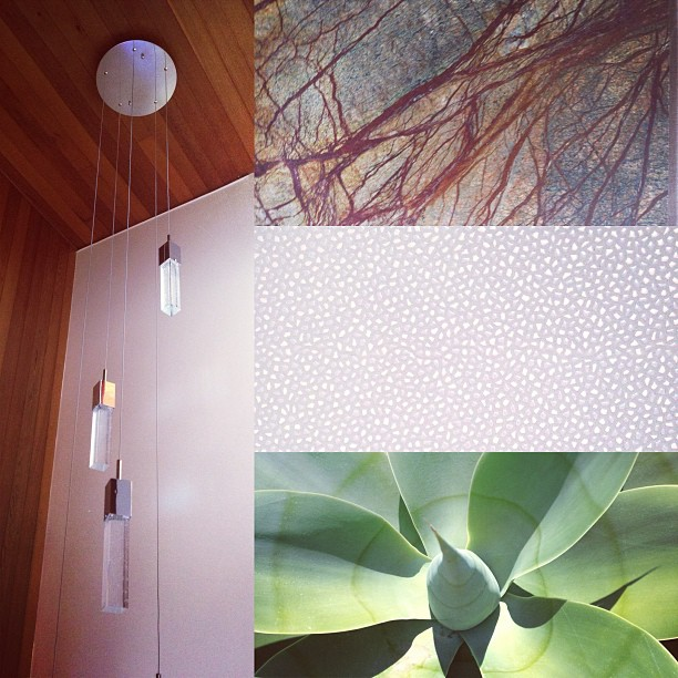 light / slab / tile / aloe #kzantosdesign #sunsetbeachhouse