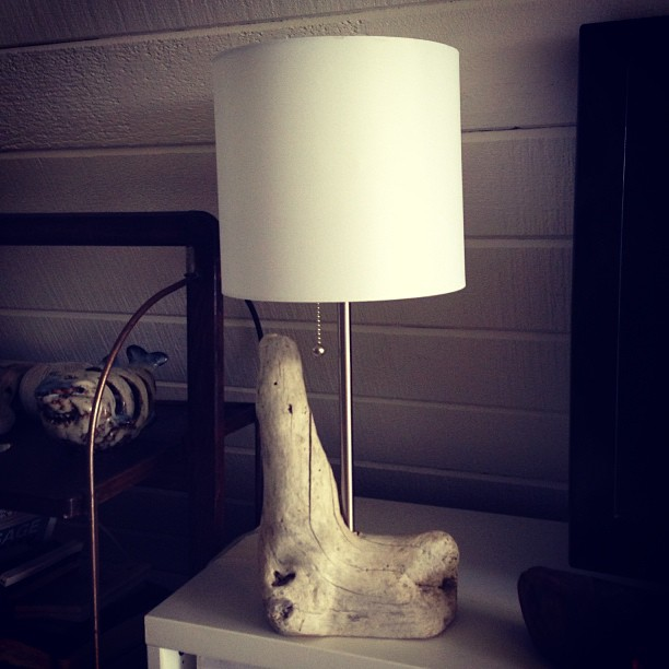 Sunday project : driftwood lamp with @mhickeyboats