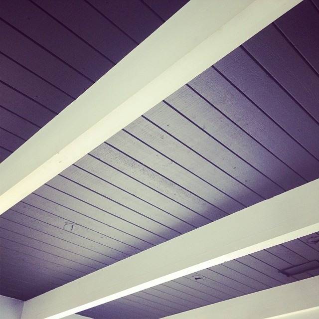 Almost-black ceilings. :) #kzantosdesign #sunsetbeachhouse