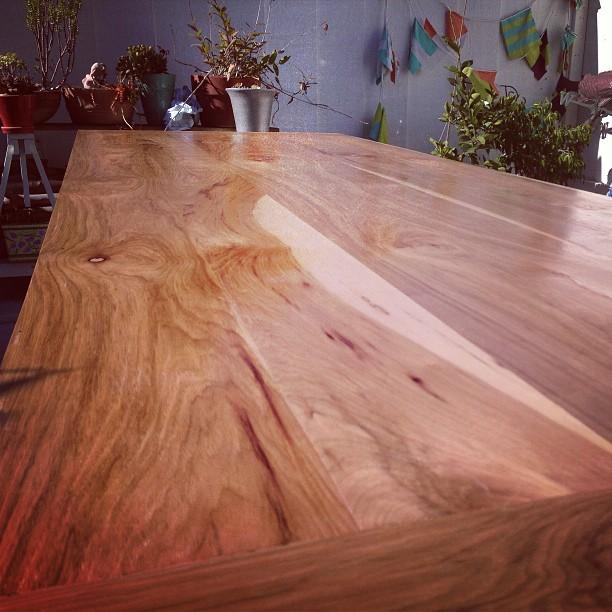 Stoked. #pecanwood table