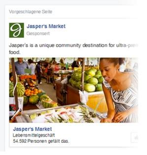 Facebook-Werbeanzeige Beispiel (Quelle: Facebook für Unternehmen)