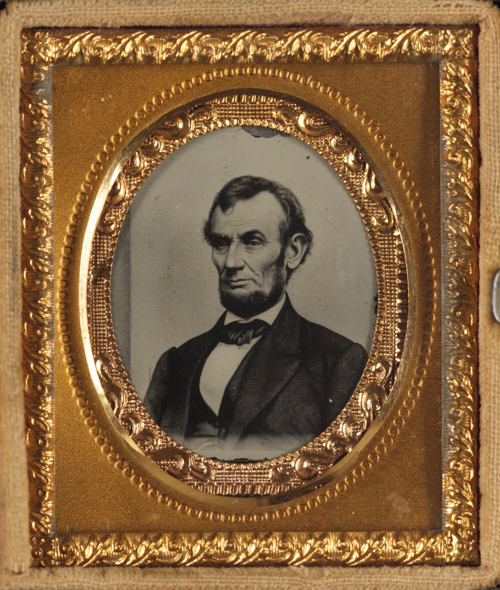 Abraham Lincoln. Ambrotype/Tintype filing series, Matthew B. Brady appro  ximately, 18  64. Courtesy of the Library of Congress.