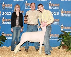 2013 Champion Heavy Weight Finewool at the Houston Livestock Show and Rodeo   Shown by Gabe Jennings