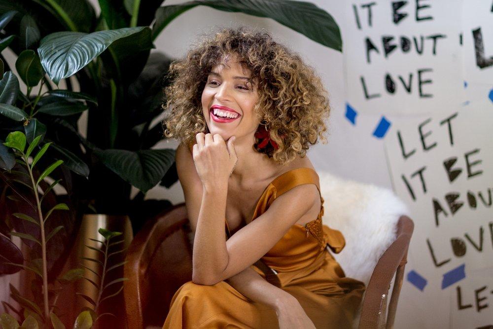 Cleo Wade - in her studio