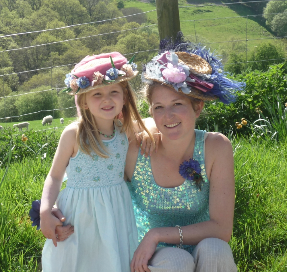 Aisla and I with our Easter Bonnets