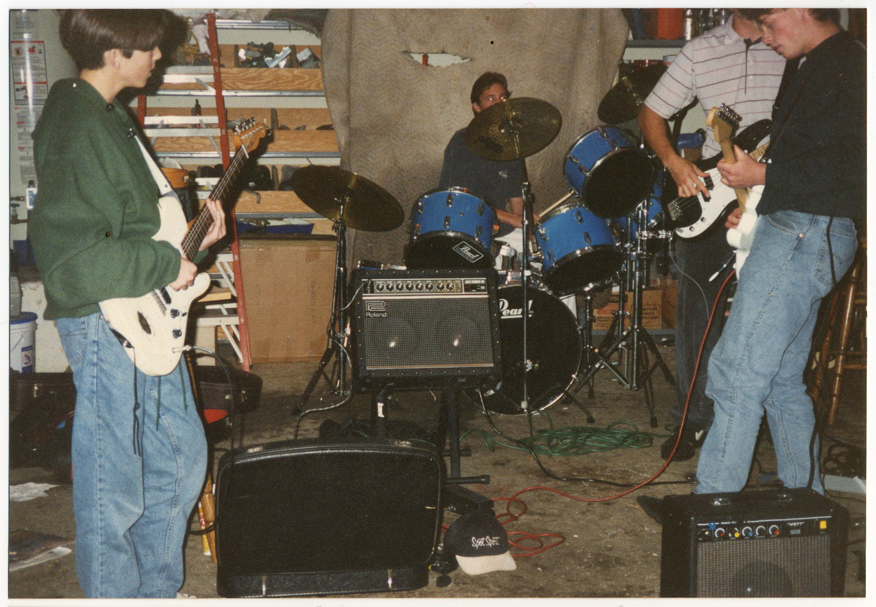 band practice in garage