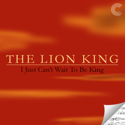 The Lion King Sheet Music - I Just Can't Wait to Be King